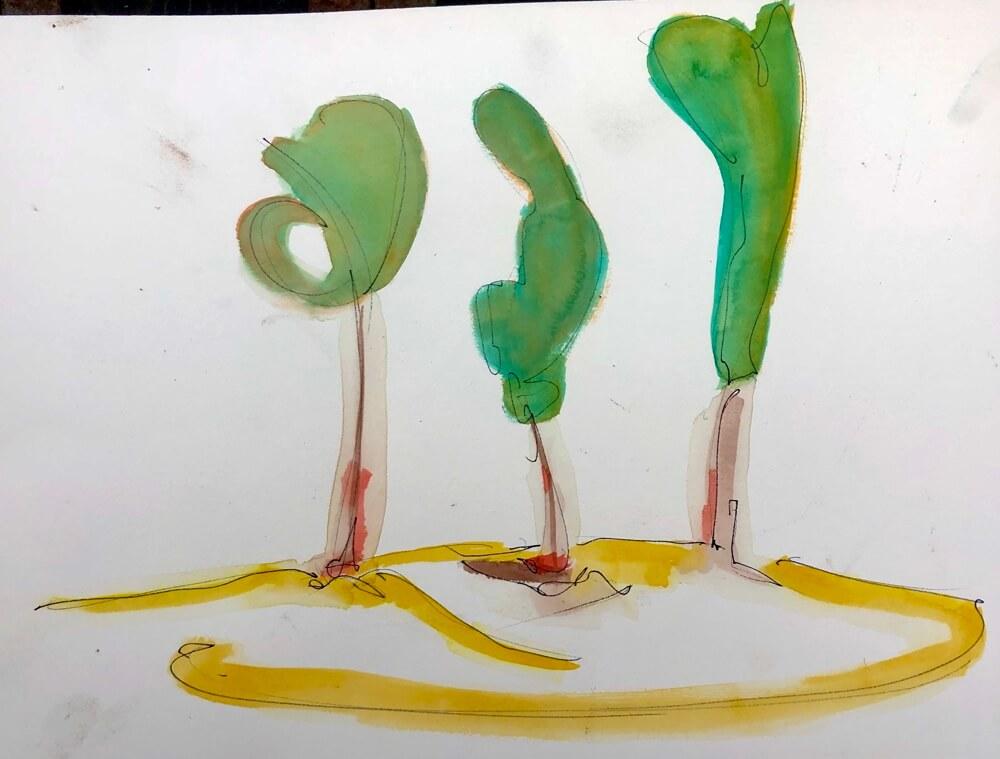 Joseph Castle vineyard water color series 2020 - 5